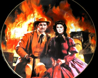 """Gone With The Wind Collector Plate """"The Burning of Atlanta"""" @LootByLouise"""
