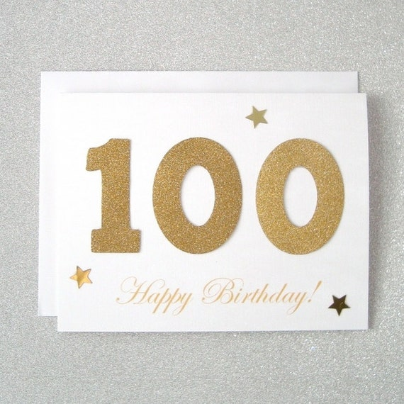 100th Birthday Card 100th Milestone Birthday Card 100th – 100th Birthday Greetings