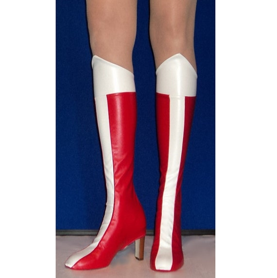 New Wonder Woman Super Hero Boot Shoe Covers Costume Halloween Costume