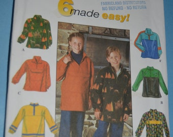 Simplicity 8300 Boys and Girls  Top Sewing Pattern - UNCUT - Sewing Pattern - Size 12 14