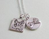 Pinky Promise Pinky Swear Butterfly Friend Necklace
