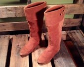 25% OFF // Women's Size 6 Chestnut Brown Suede Knee High Boots