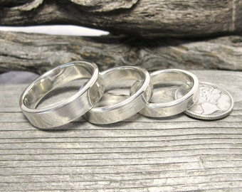 Wide Sterling Silver Ring, Simple contemporary silver ring, Personalized Silver Ring, silver wedding ring