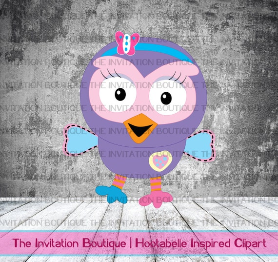 Hootabelle Inspired Digital Clip Art - Giggle and Hoot for girls Giggle Clipart