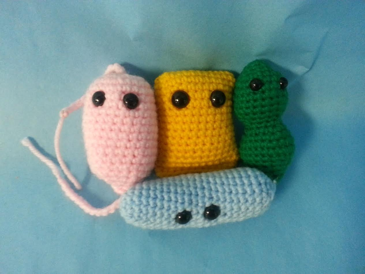 Crochet Amigurumi Collection : Bacteria Toy Collection Amigurumi 4 in 1 Crochet Pattern