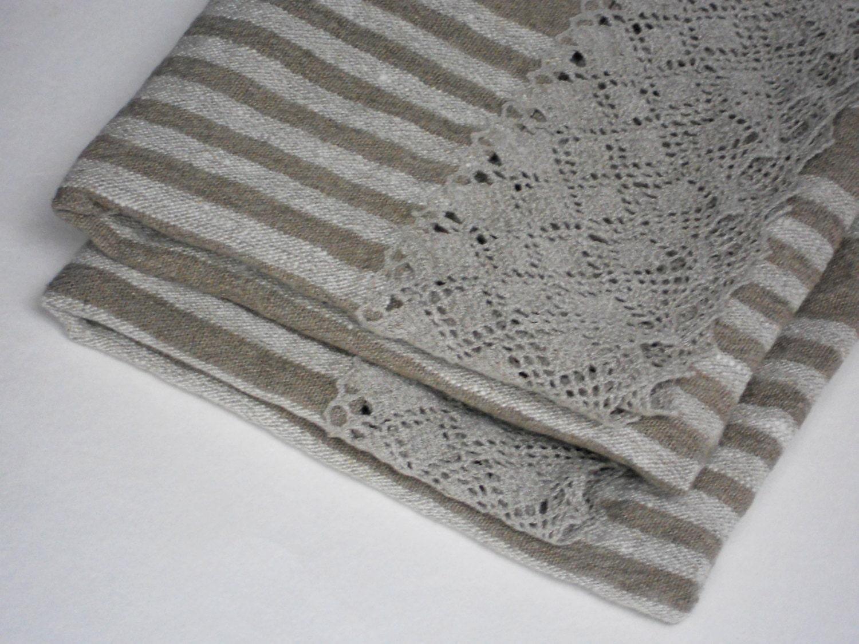 striped linen hand towels guest towels tea towels set of 2. Black Bedroom Furniture Sets. Home Design Ideas