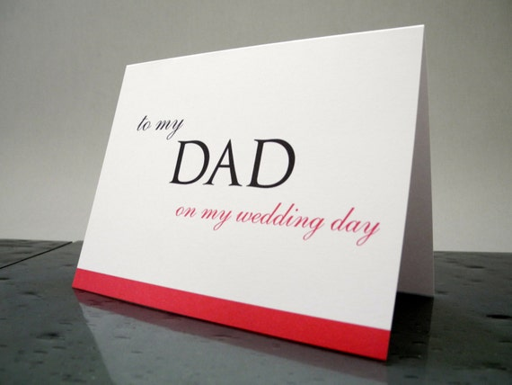 To my Dad on my Wedding Day Card - Father Wedding Day Gift