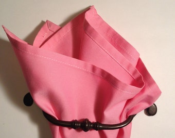 cotton pocket square puce, old rose