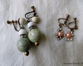 Vintage Destash Repurpose Earrings Jewelry WinterPearlsDesigns Winter Pearls Designs