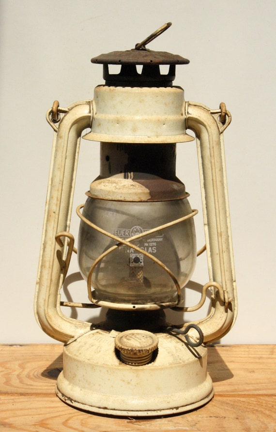 Antique German Feuerhand Oil Lamp Railroad lantern