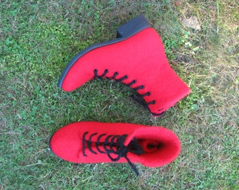 Hand-felted boots ROSSI