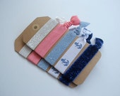 10 Count Elastic Hair Ties // Nautical Special Edition