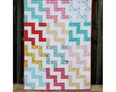 Chevron Crib Quilt, Chevron Toddler Quilt, Custom Crib Quilt, Custom Boy Quilt, Custom Boy Quilt, Step It Up A Notch Pattern, Gender Neutral