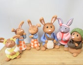 Bunny  1 qty Edible Peter Rabbit fondant, Lilly, floppsy, or Cotton tail etc- Great for an easter party or kids party