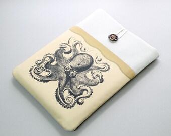 iPad Retina Sleeve, iPad Air Cover, iPad Mini Case, padded tablet sleeve, Octopus front pocket, Nexus 10 sleeve, Tablet case, Kindle HD case