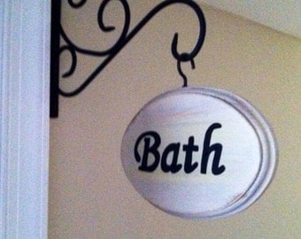 Adorable Bathroom Sign (5x7)