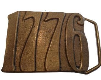 Vintage 1776 Bicentennial Belt Buckle - Solid Brass - gifts