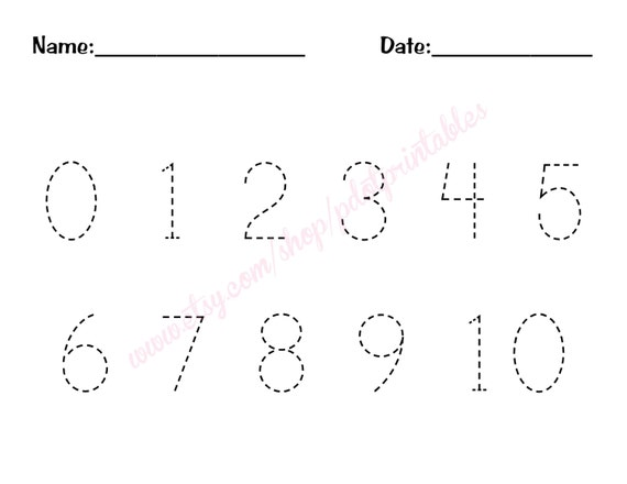 Free Worksheets : tracing numbers 1-10 Tracing Numbers in Tracing ...