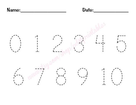 0 10 Number Trace Worksheet PDF Printable