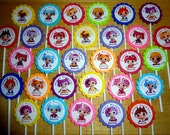 30 ct Lalaloopsy dolls cupcake toppers personalized birthday party favors decoration