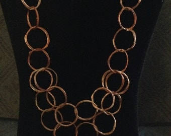 Copper Linked Necklace