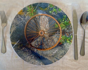 Monhegan Rusty Wheel Plate