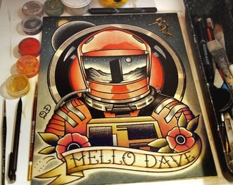 "Hello Dave (2001: A Space Odyssey) Art Print 11""x14"""