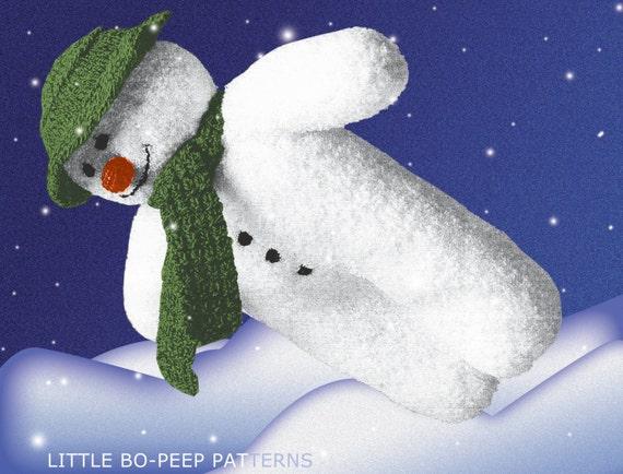 The Snowman Toy knitting pattern PDF by BoPeepStore on Etsy