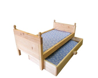 Doll Trundle Bed fits An 18 to 20 Inch Doll And Includes  Mattress
