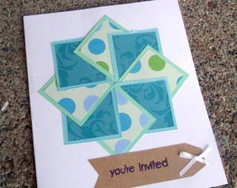 Pinwheel Greeting Card - Set of 25