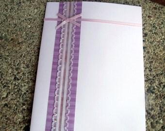 Simple Ribboned Greeting Card - Set of 10