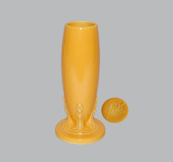 Vintage Fiesta Homer Laughlin Co Yellow Bud Vase