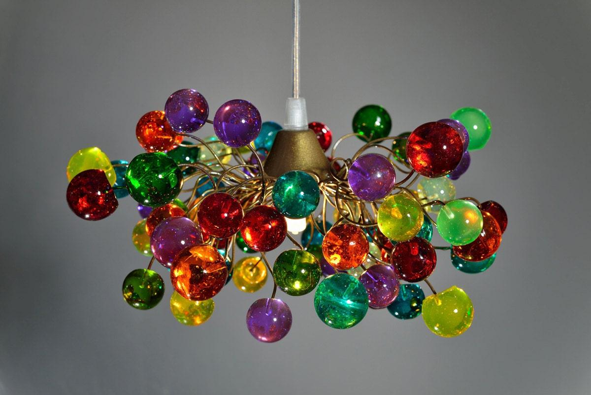 Pendant Light Colorful Bubbles Ceiling Light Fixture For