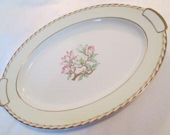 Vintage Mikado China Magnolia Oval Serving Platter