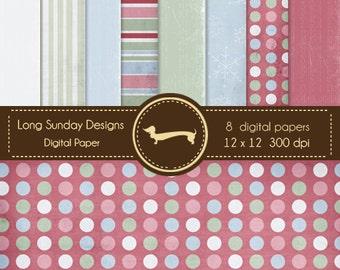 Scrapbooking digital, print digital paper, scrapbook papers, background. (E12)