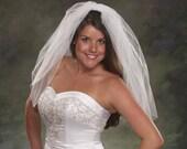Waist Length Bridal Veils 2 Layer Plain Cut Veils 26 Blusher Veils 2 Tier Light Ivory Wedding Veils Short White Bridal Veils
