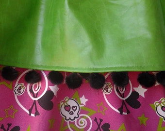 Rocker Girl Pink and Green Curtains