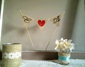 Burlap Cake Topper Banner, your choice of colors wedding, birthdays, anniversary