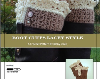 Crochet Pattern-Lace Boot Cuffs