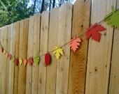 Festive Fall Leaf Banner
