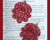 Red Large Victorian BOHO CHIC Filigree EARRINGS, Lightweight, You can also pick color