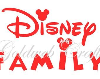 Disney Inspired Family Car Decal