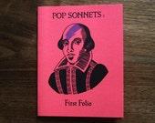 Pop Sonnets: First Folio