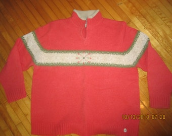 Woolrich Lambswool Coral Sweater Lovely Pullover