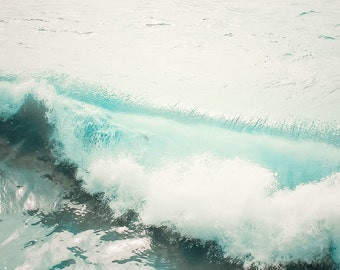 """Ocean Photography, Beach Photography, California, Waves, Turquoise, Vintage, Sea, 8x10 Luster Photograph-""""Seaside Tranquility"""""""