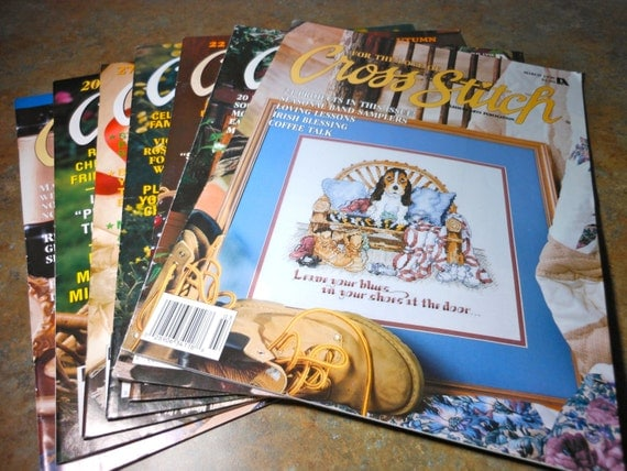 Back Issues of For the Love of Cross Stitch, Leisure Arts 1997-99