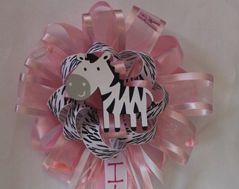 mom to be corsage zebra