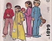 McCall's 6481 Vintage Child Pajama Set Pattern