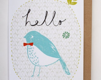 Hello Birdie greetings card