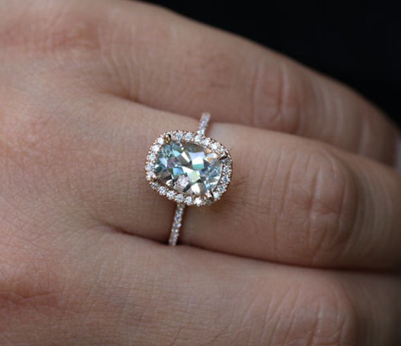 cushion rose gold aquamarine engagement ring with aquamarine. Black Bedroom Furniture Sets. Home Design Ideas